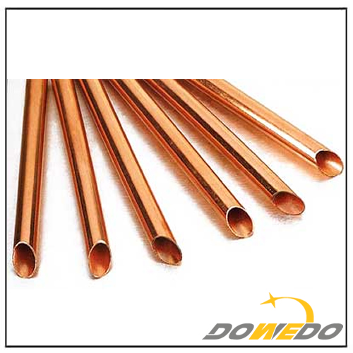 Polished Oval Copper Capillary Pipe
