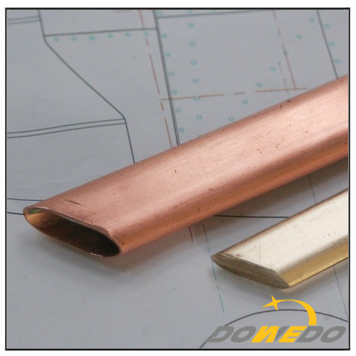 C11000, C12200, C21000 Flat Oval Copper Tubes