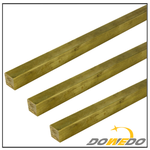 C360 Half Hard Brass Square Bar Mill Rod