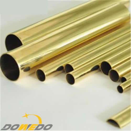 Rolled brass tube for oil radiator