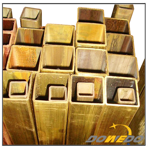 Square Straight Brass Pipe