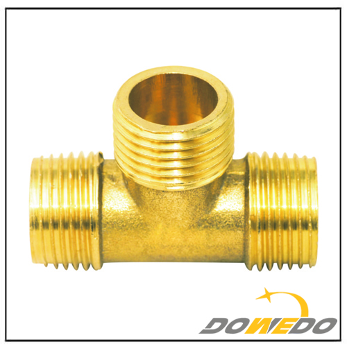 90 Degree Brass Tee Pipe Fitting
