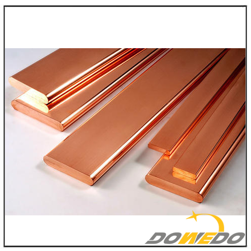 Flat Copper Bars for Manufacturing and Construction