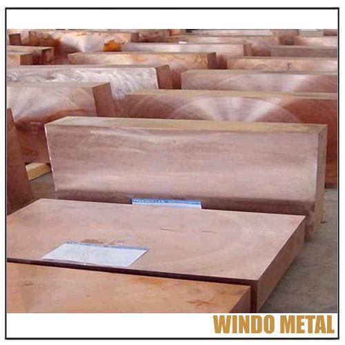 UNS.C18200 CuCr Copper Block Plates